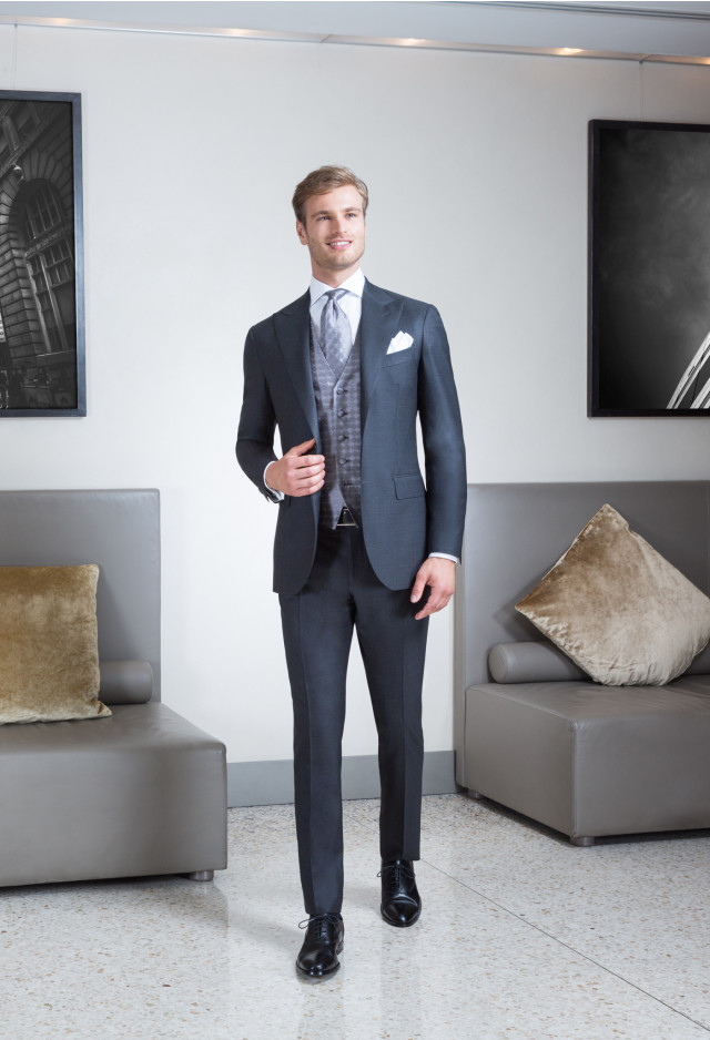 Grey suit with waistcoat