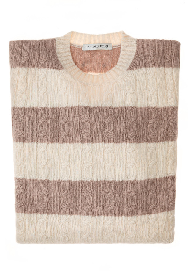 Beige/Cream Blend Sweater - Wool & Cashmere