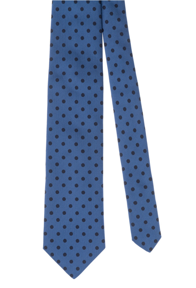 Light Blue Micro Polka-Dot Tie