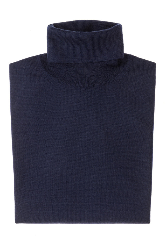 Navy Turtleneck - Merinos Wool