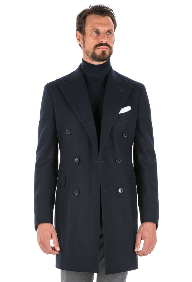 Double-Breasted Blue Coat