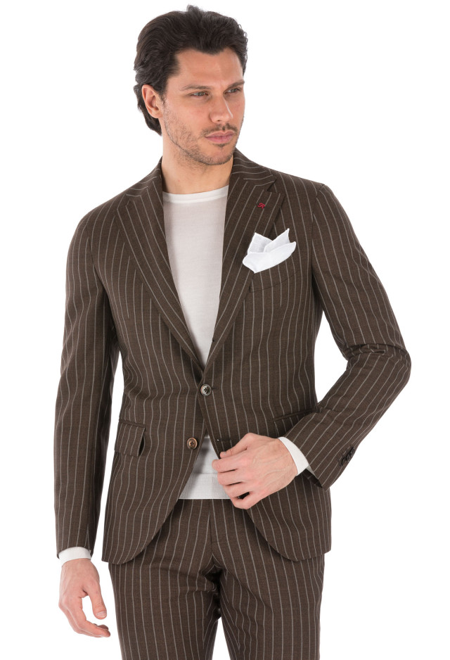 Brown Pinstripe Suit