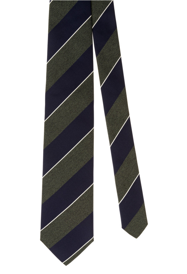 Green Regimental Tie