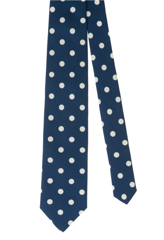 Blue and White Dots Tie