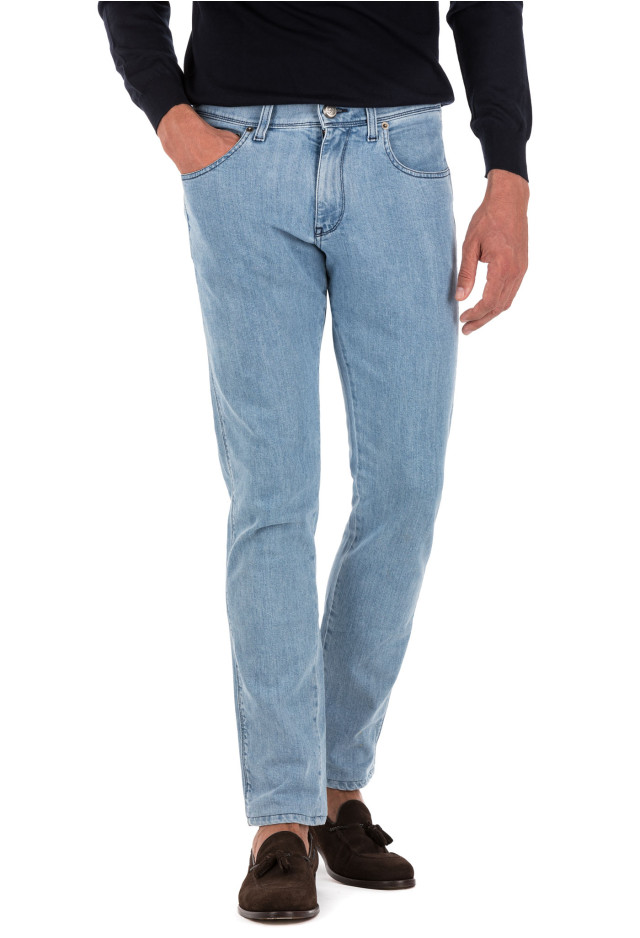 Stone-Washed Light Jeans