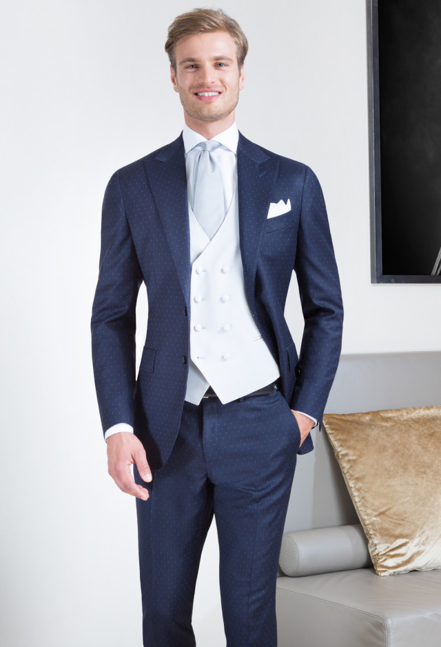 Blue Speckled Suit