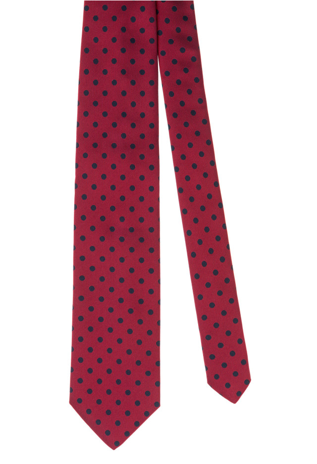 Red Micro Polka-Dot Tie