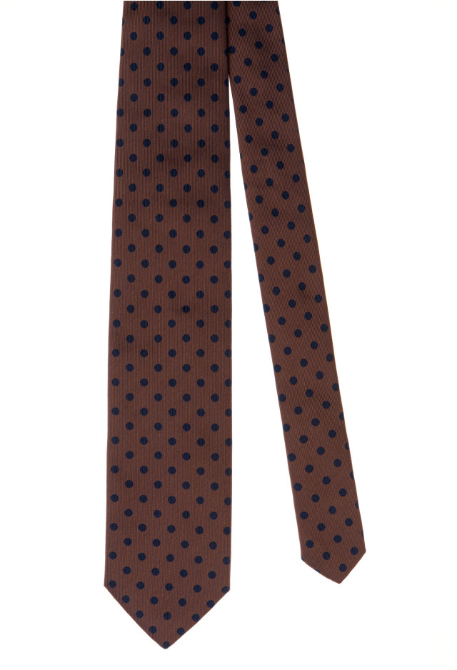 Brown Micro Polka-Dot Tie