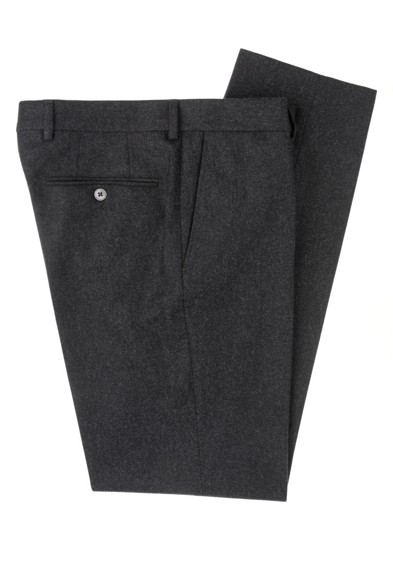 Dark Grey Flannel Dress Trousers