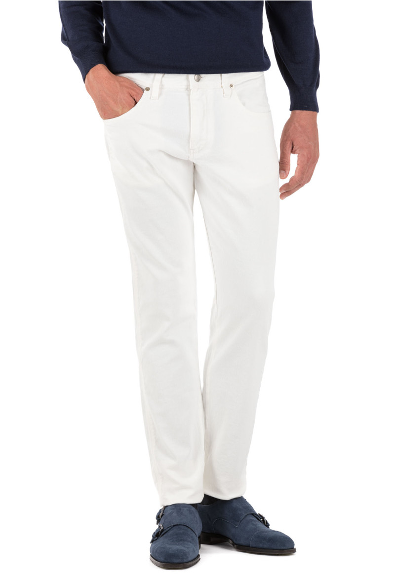 Garment Dyed White Jeans