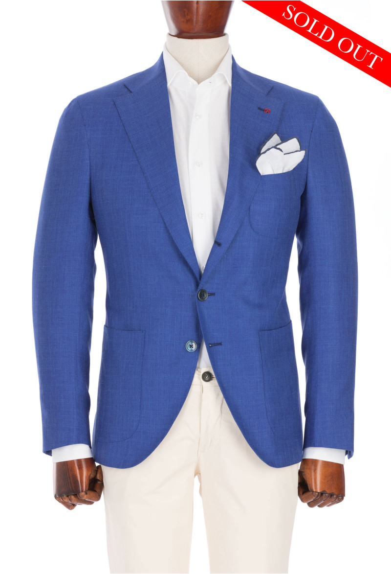 Azure-Blue Jacket - Loro Piana