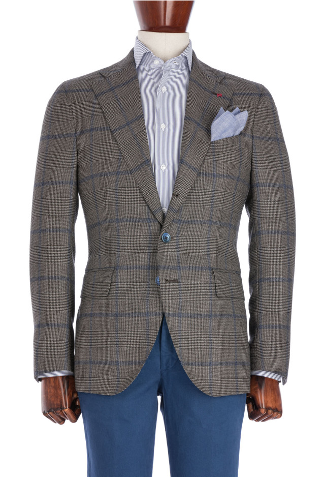 Grey Prince of Wales Flannel Jacket