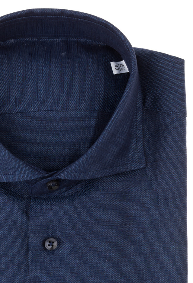 Blue shirt, Cotton-Linen