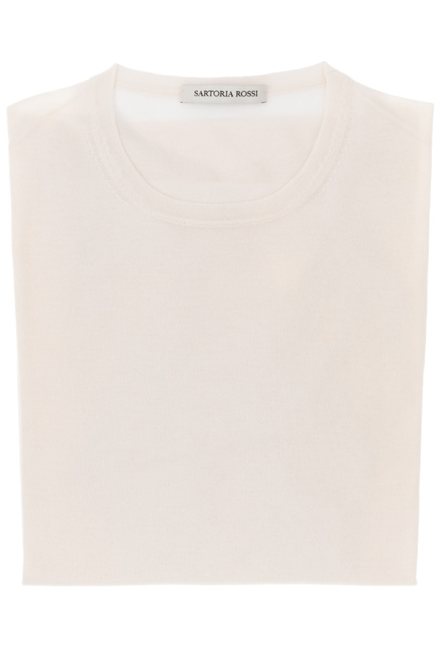 White crew neck sweater - Cashmere