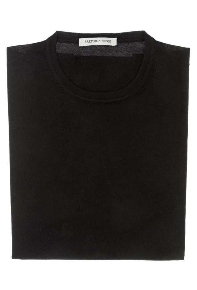 Black crew neck sweater - Cashmere