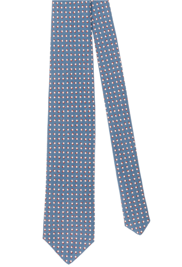 Light Blue Micro-Design Tie