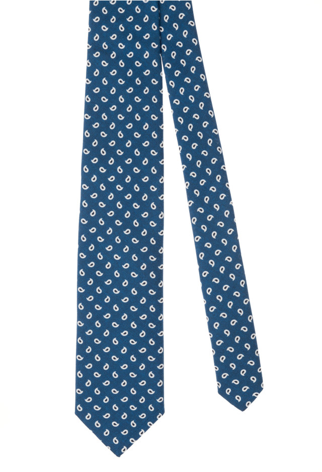 Light blue silk tie with micro-pattern
